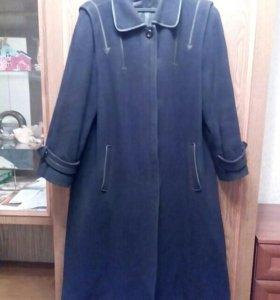 Драповое пальто р. 48-50