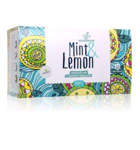 Зелёный чай с мятой и лимоном