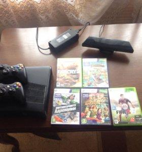 Xbox 360s+ Kinect+два беспроводных Джойстика+50игр
