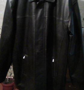 Куртка кожаная  новая зимняя на меху 56 размер