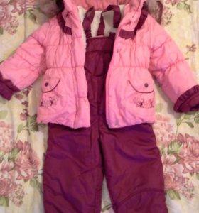 Зимний костюм на девочку на 3-4 года