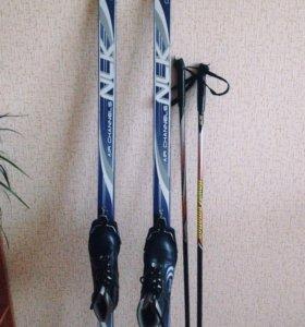 Лыжи + палки + ботинки