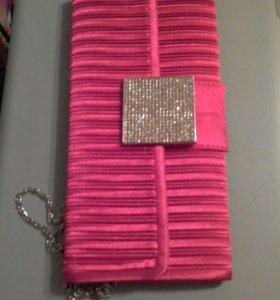 Новый розовый клатч