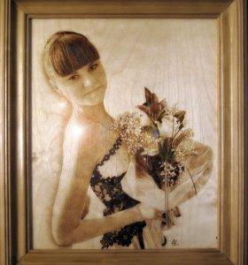 Портреты на заказ (Выжигание по дереву)