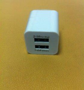 Адаптер на 2 USB 1mA/2.1mA