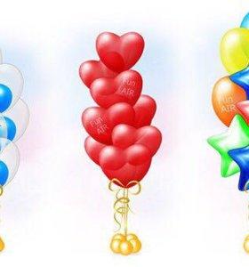 Воздушные шары в виде фонтанчиков