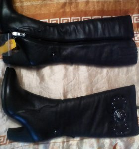 Новые зимние кожаные сапоги р35