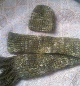 Новые шарф и шапочка.