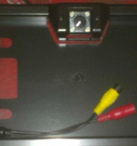 Камера заднего вида с рамкой универсальная 12v