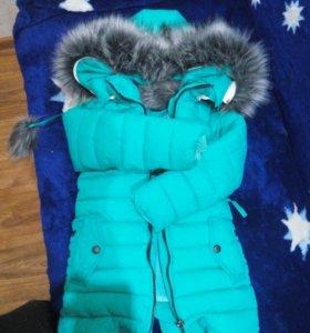 Продам зимнюю куртку детскую размер 26 уги в подар