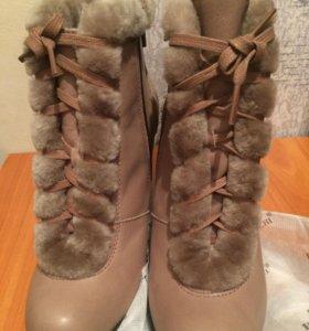 Натуральные зима ботинки