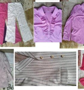 Пиджак брюки платье блузка 48-50