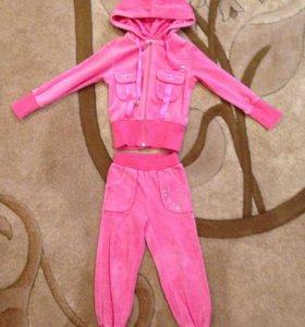 Спортивный велюровый костюм на девочку