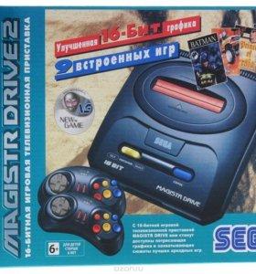 Sega Magistr Drive 2 lit + 9 игр