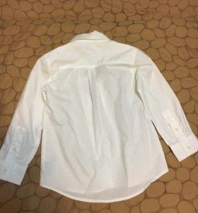 Рубашка новая детская+бабочка фактурная