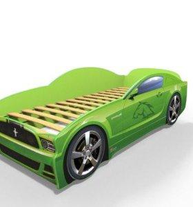 Кровати машины Мустанг с матрасом новые