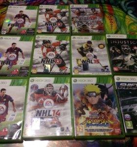 Продам диски для Xbox 360 кроме тенниса