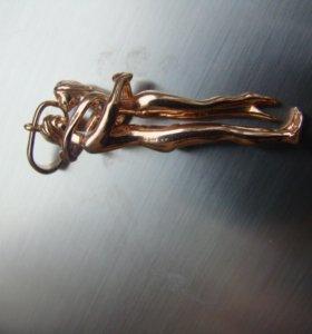 Подвеска серебряная позолоченная
