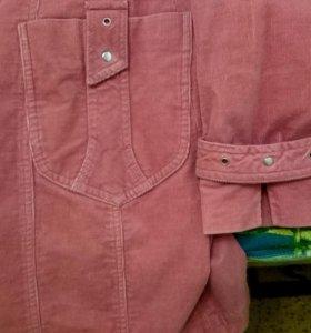 Плащ - пальто вельветовый