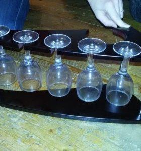 """Винный набор """"бокалы на подставке """" Мини -бар"""