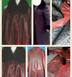 пальто с песцом р50-52 и другие вещи