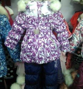 Комплект для девочки Зима (новый)