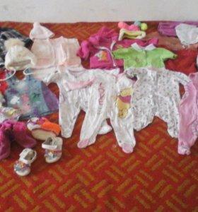 Вещи на девочку до года
