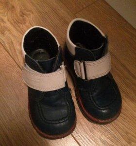 Ботинки кожаные детские 22 размер