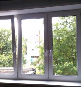 Окно в зал трехсекционное VEKA WHS