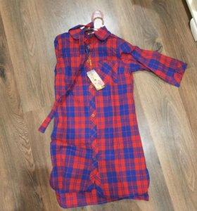 Платье рубашка 42-44