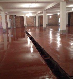 Промышленный бетонный пол, топпинг