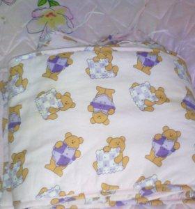 Бортики детские на кроватку