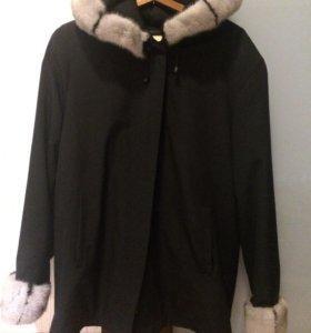 куртка зимняя  на кроличьей подстежке