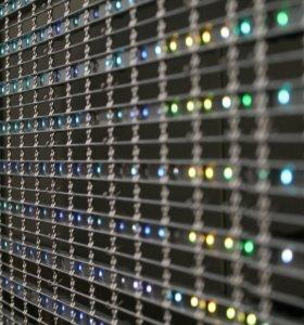 Архитектурная подсветка зданий, медиафасады.
