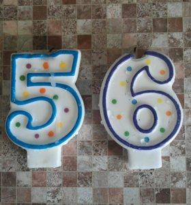 Свечи для торта 5,6,7,8