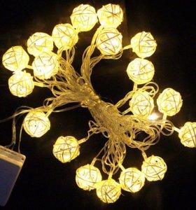 Праздничное освещение гирлянда 4 метра