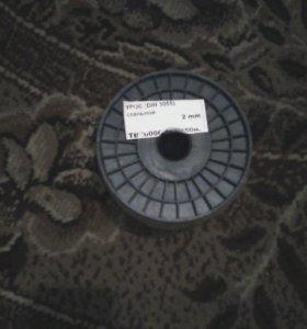 Трос стальной,диаметр2мм,в бухте 250метров