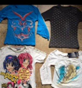 Новые кофты - футболки пакетом
