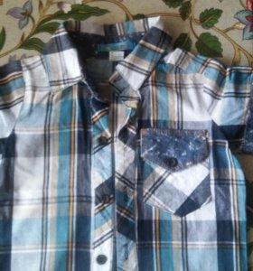 Рубашка с шортами р.86