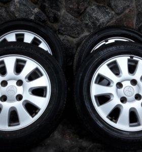 Комплект оригинальных колёс на Mitsubishi Lancer 9