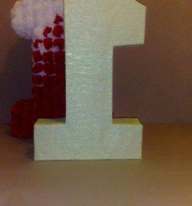 Каркасы для декора цифр букв