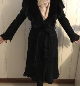 Дубленка, пальто из замши