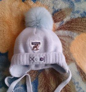 Зимняя детская шапочка для новорожденного