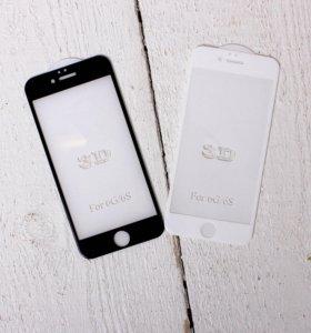 Защитные стекла 3д iPhone 6/6s