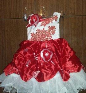 Нарядное платье на ррст 92-104