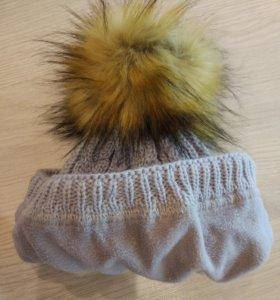 Продам шапку зима на 3г.