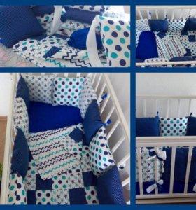 Набор в детскую кроватку НОВЫЙ