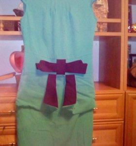 Платье, цвет: зелёно- голубой