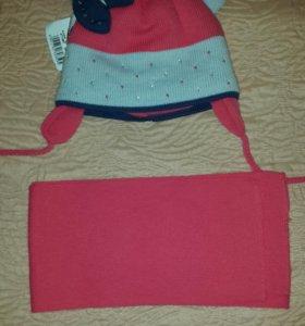 Новый комплект(шапка+шарф)