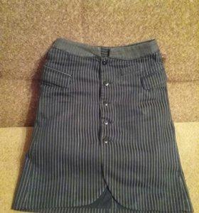 Юбка джинсовая на подкладе